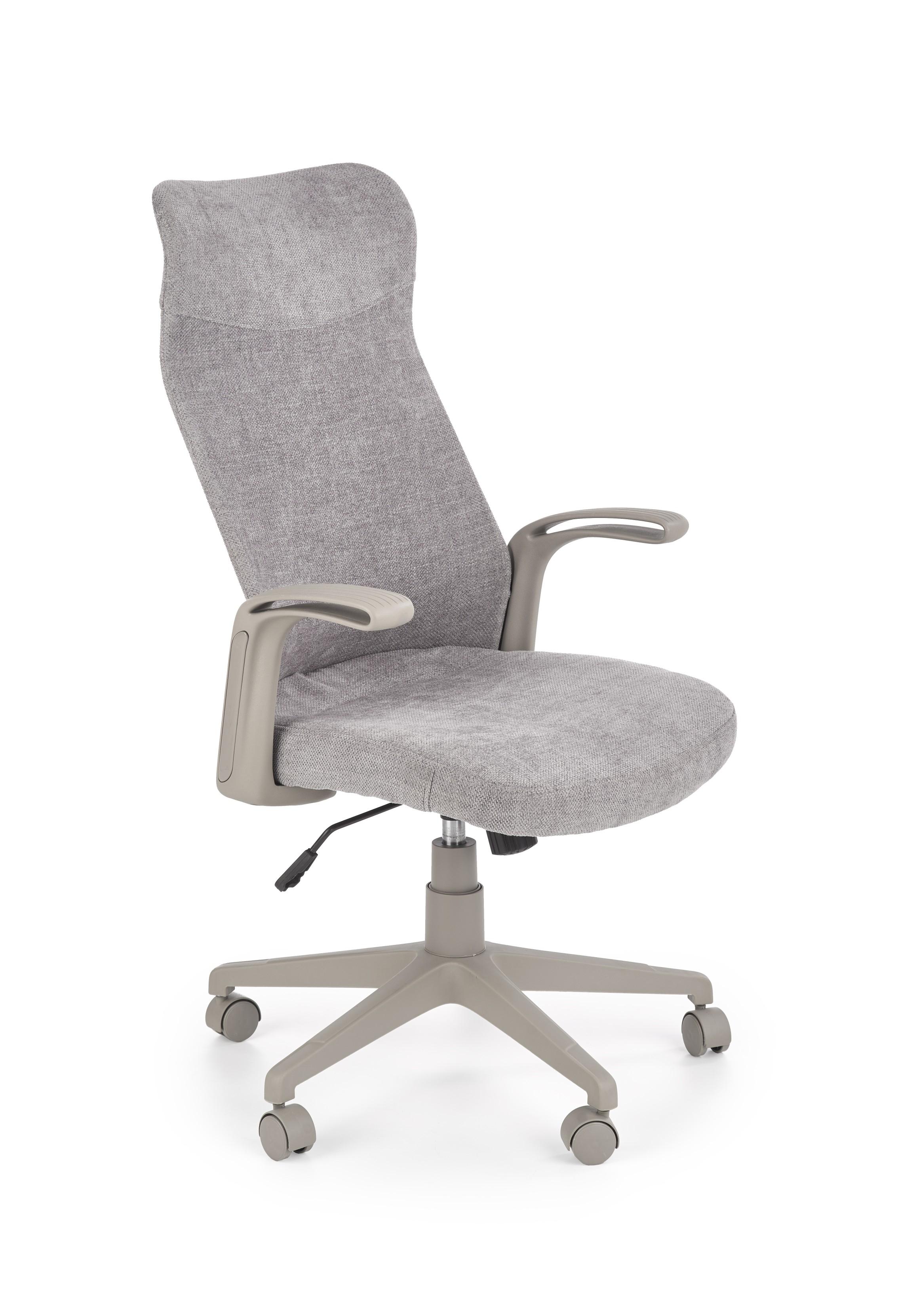 Scaun de birou ergonomic tapitat cu stofa Arctic Gri deschis / Gri, l62xA62xH62-110 cm