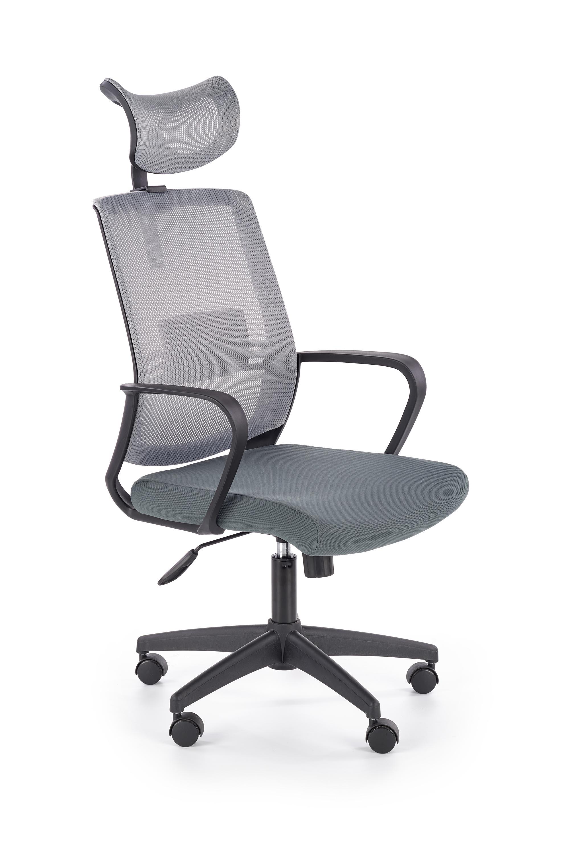 Scaun de birou ergonomic, tapitat cu stofa Arsen Gri, l62xA65xH113-124 cm