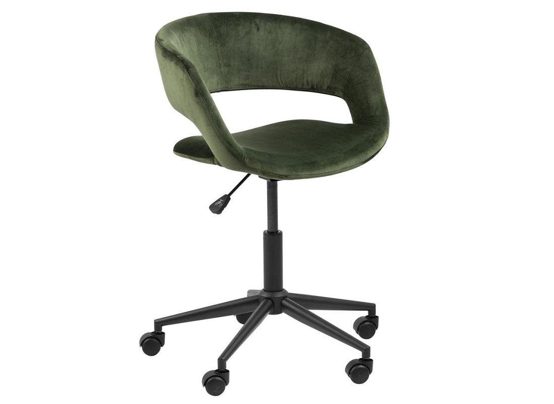 Scaun de birou ergonomic, tapitat cu stofa Grace Velvet Verde, l56xA54xH87 cm