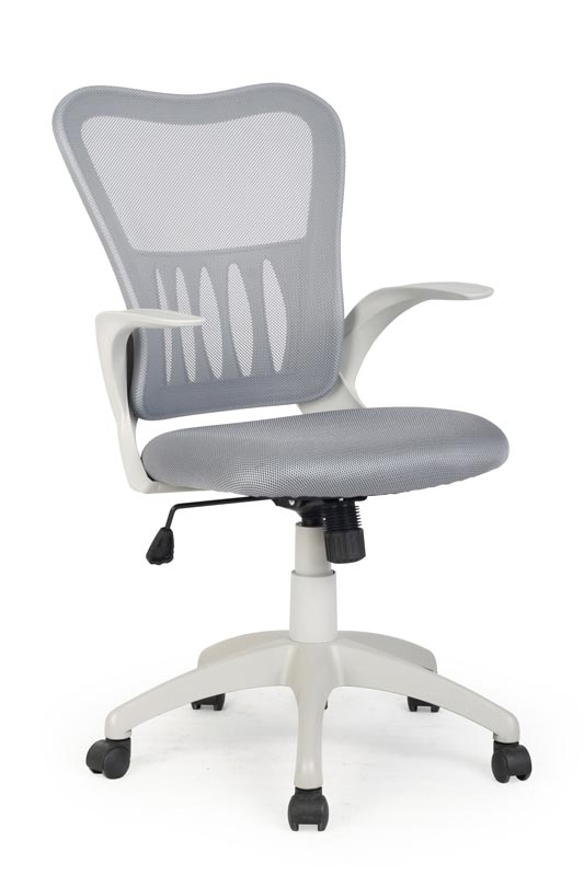 Scaun de birou ergonomic tapitat cu stofa Griffin Gri, l61xA55xH96-106 cm
