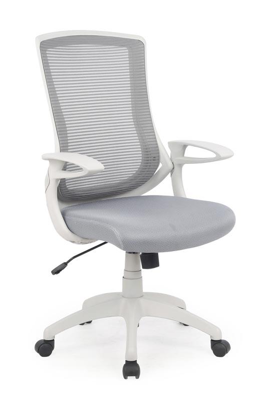 Scaun de birou ergonomic tapitat cu stofa Igor Gri / Gri deschis, l66xA63xH104-114 cm