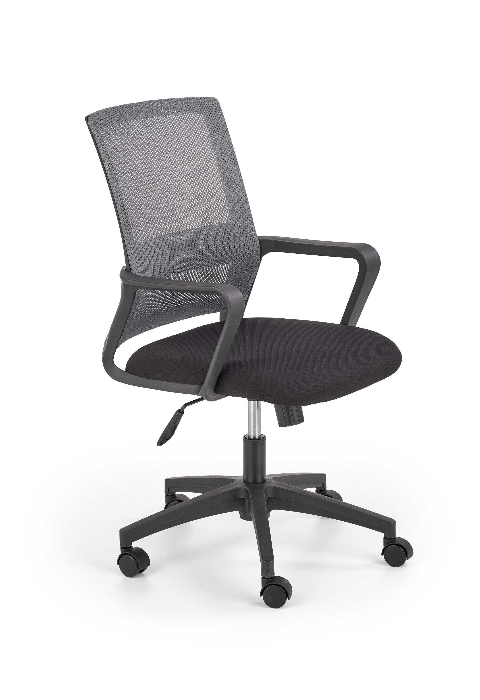 Scaun de birou ergonomic tapitat cu stofa Mauro Negru / Gri, l57xA56xH91-100 cm