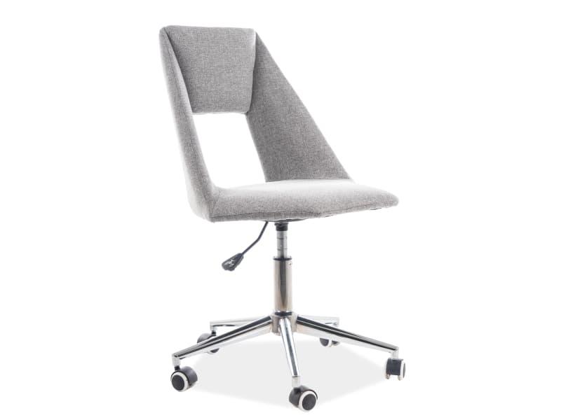 Scaun de birou ergonomic tapitat cu stofa Pax Gri, l54xA46xH84-94 cm poza