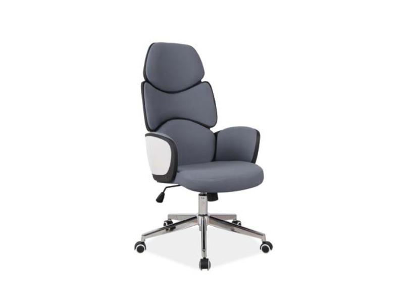Scaun de birou ergonomic tapitat cu stofa Q-888 Gri, l62xA47xH117-127 cm