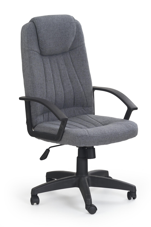 Scaun de birou ergonomic, tapitat cu stofa Rino Gri, l61xA63xH112-122 cm imagine