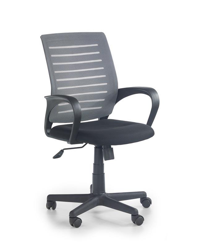 Scaun de birou ergonomic, tapitat cu stofa Santana Grey / Black, l58xA60xH89-99 cm