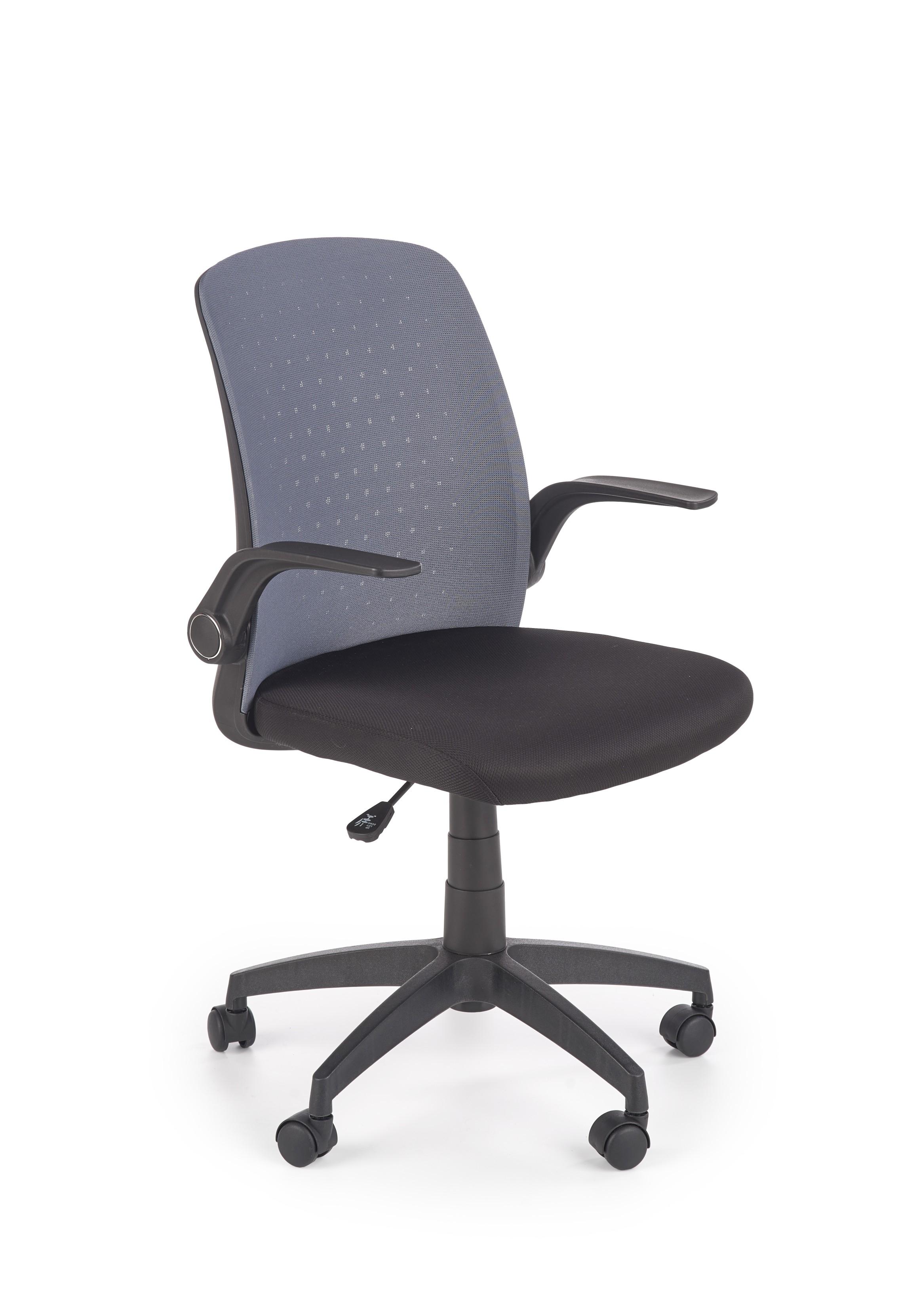 Scaun de birou ergonomic tapitat cu stofa Secret Gri / Negru, l55xA57xH86-94 cm poza