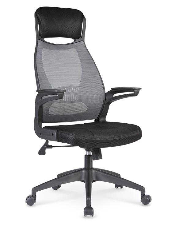Scaun de birou ergonomic tapitat cu stofa Solaris Black / Grey, l58xA62xH116-124 cm imagine