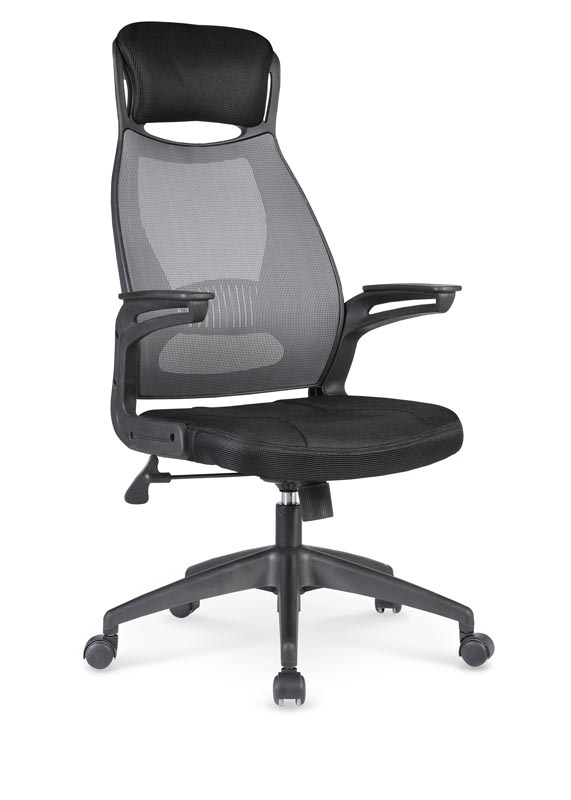 Scaun de birou ergonomic tapitat cu stofa Solaris Black / Grey, l58xA62xH116-124 cm poza