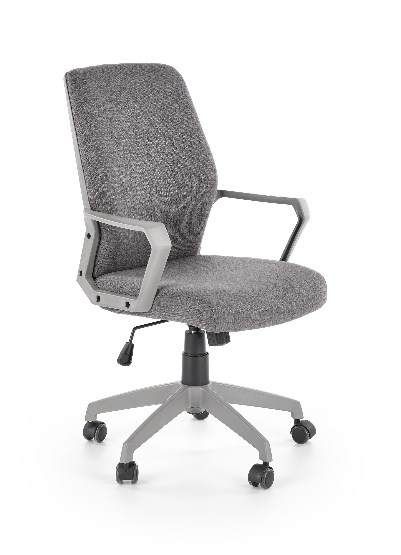 Scaun de birou ergonomic, tapitat cu stofa Spin Gri, l58xA59xH98-104 cm imagine