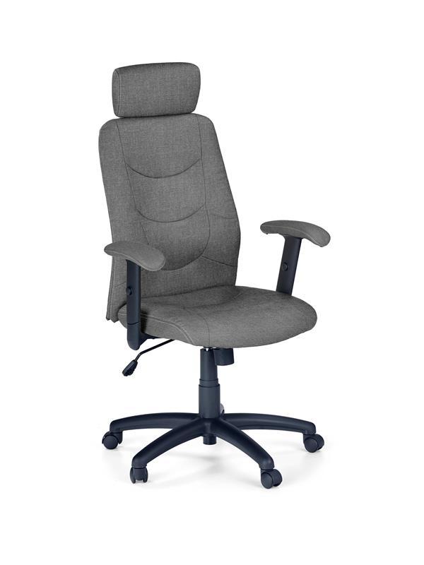 Scaun de birou ergonomic, tapitat cu stofa Stilo II Gri inchis, l66xA62xH116-125 cm