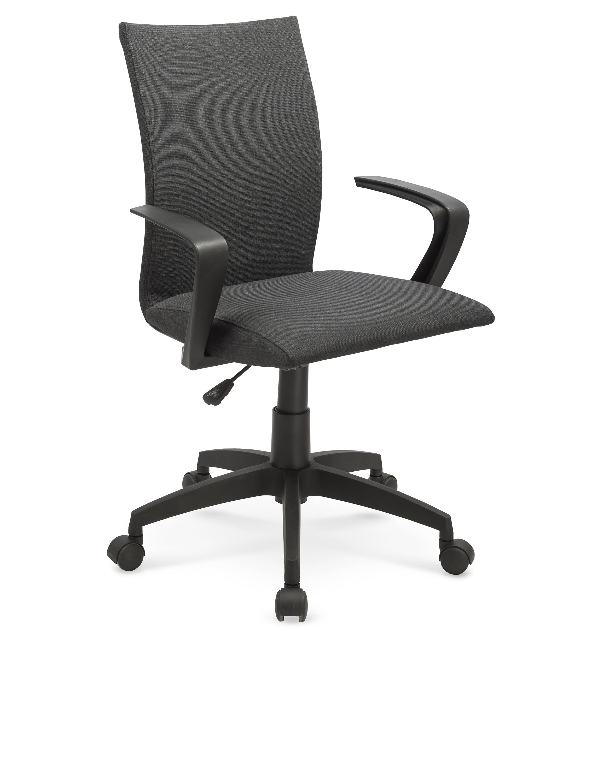 Scaun de birou ergonomic, tapitat cu stofa Teddy Gri, l59xA57xH87-96 cm poza