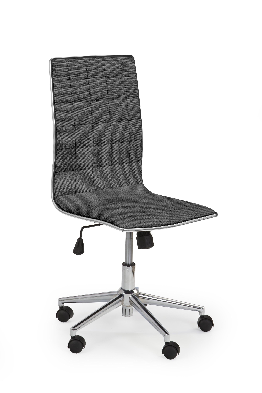 Scaun de birou ergonomic, tapitat cu stofa Tirol 2 Gri inchis, l44xA46xH97-107 cm