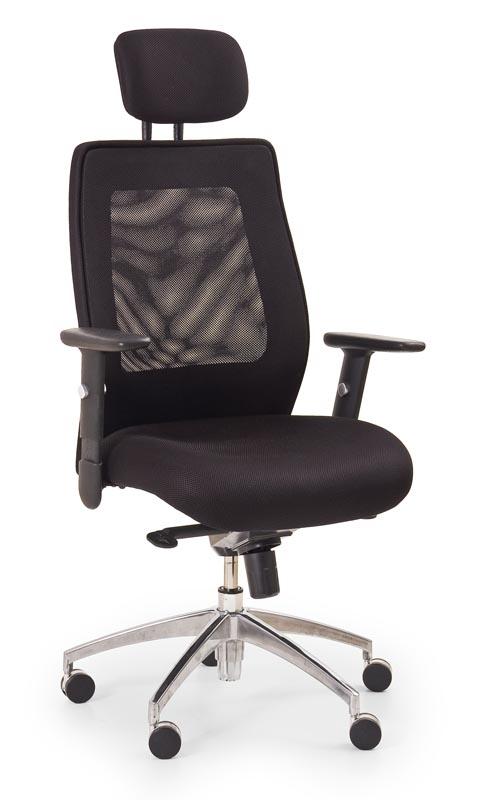 Scaun de birou ergonomic tapitat cu stofa Victor Negru, l69xA61xH125-135 cm