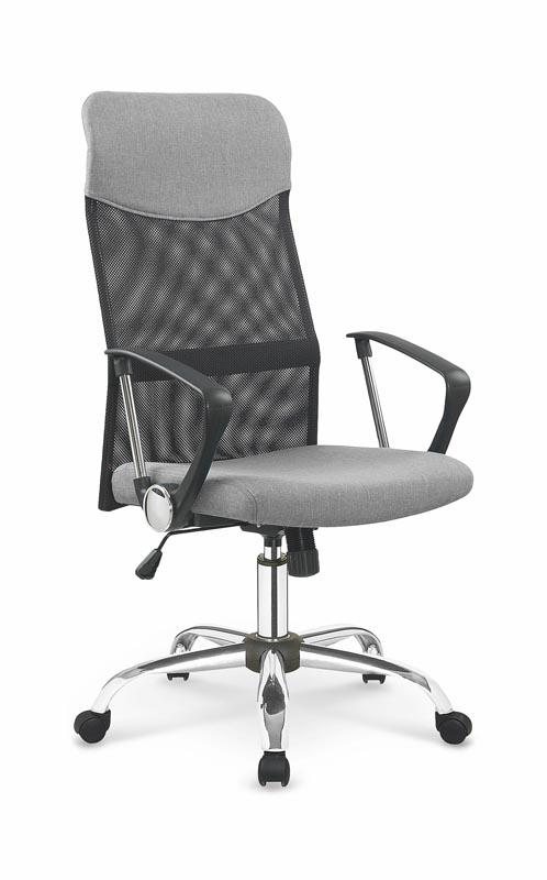 Scaun de birou ergonomic, tapitat cu stofa Vire II Grey / Black, l61xA63xH110-120 cm