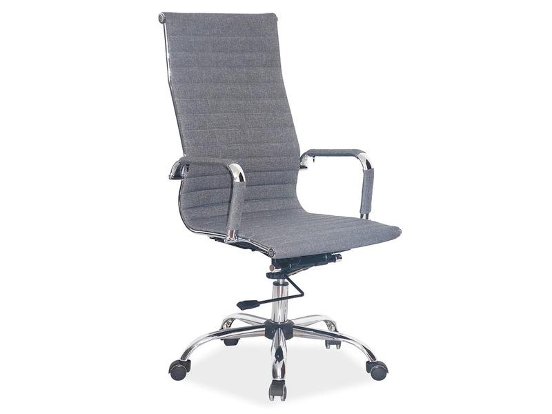 Scaun de birou ergonomic tapitat cu stofa Zion Gri, l55xA47xH108-116 cm imagine
