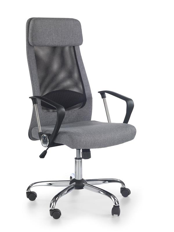 Scaun de birou ergonomic, tapitat cu stofa Zoom Grey, l61xA64xH113-123 cm
