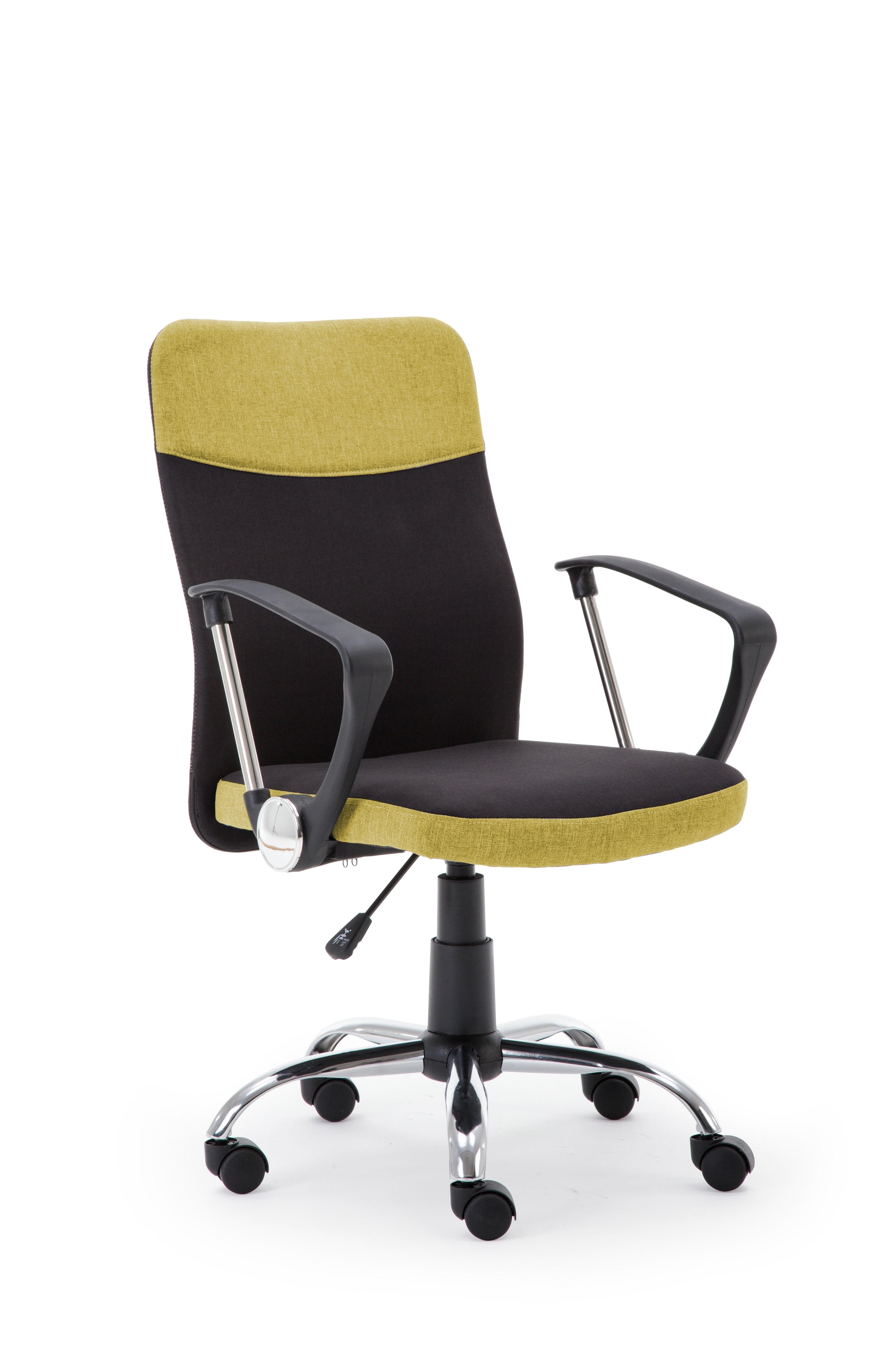 Scaun de birou ergonomic Topic Black / Green, l57xA60xH94-104 cm poza