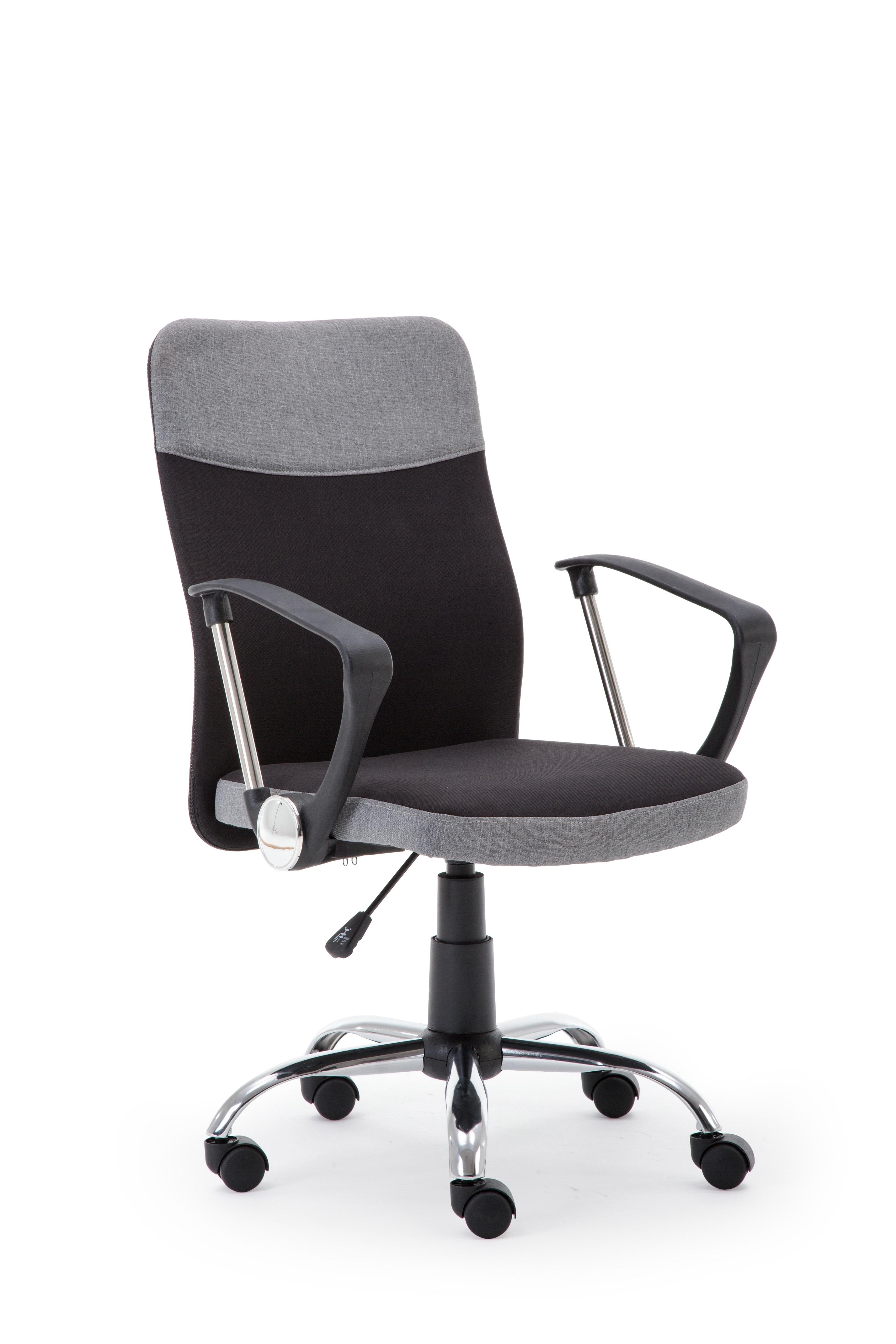 Scaun de birou ergonomic Topic Black / Grey, l57xA60xH94-104 cm