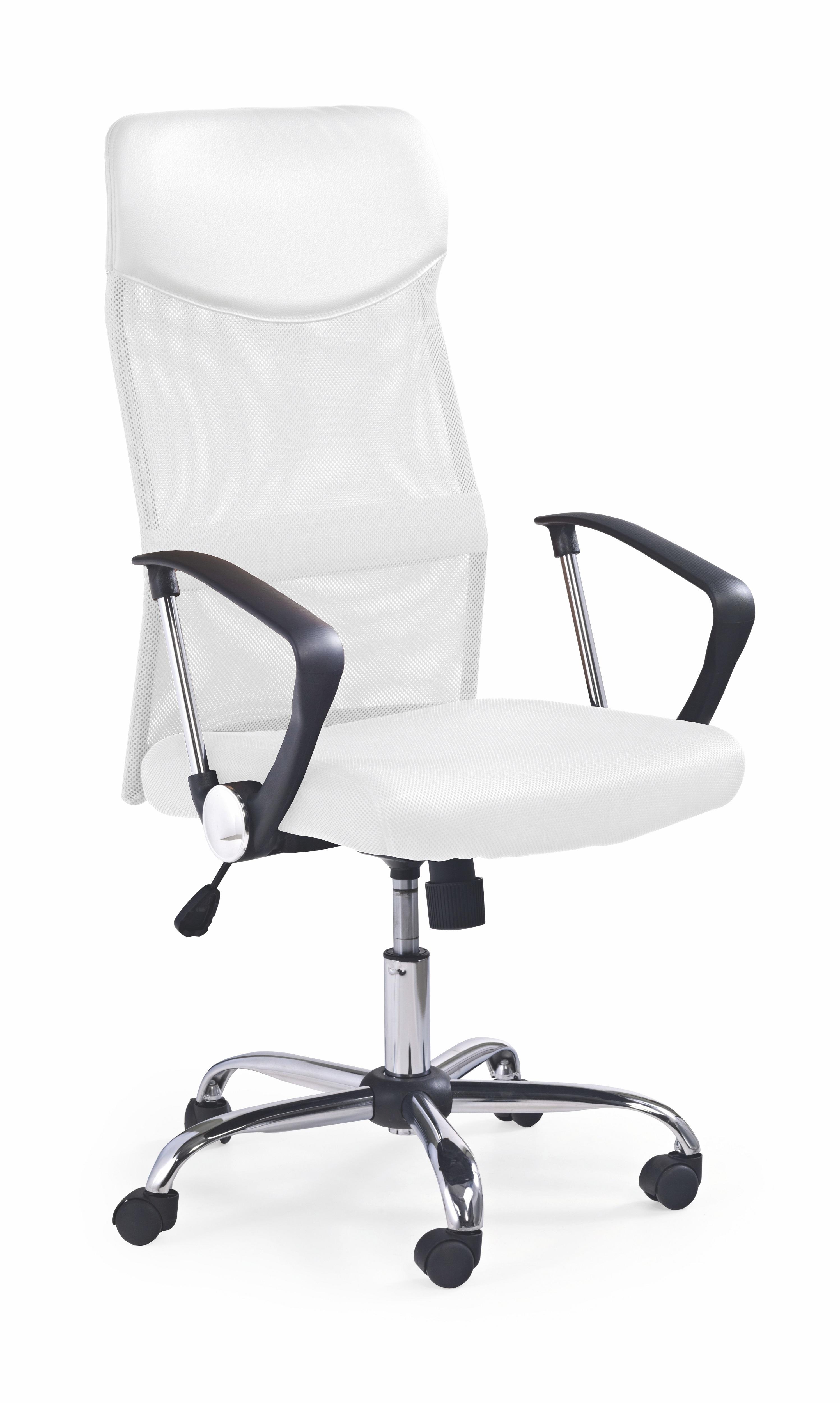 Scaun de birou ergonomic tapitat cu stofa Vire White, l61xA63xH110-120 cm imagine