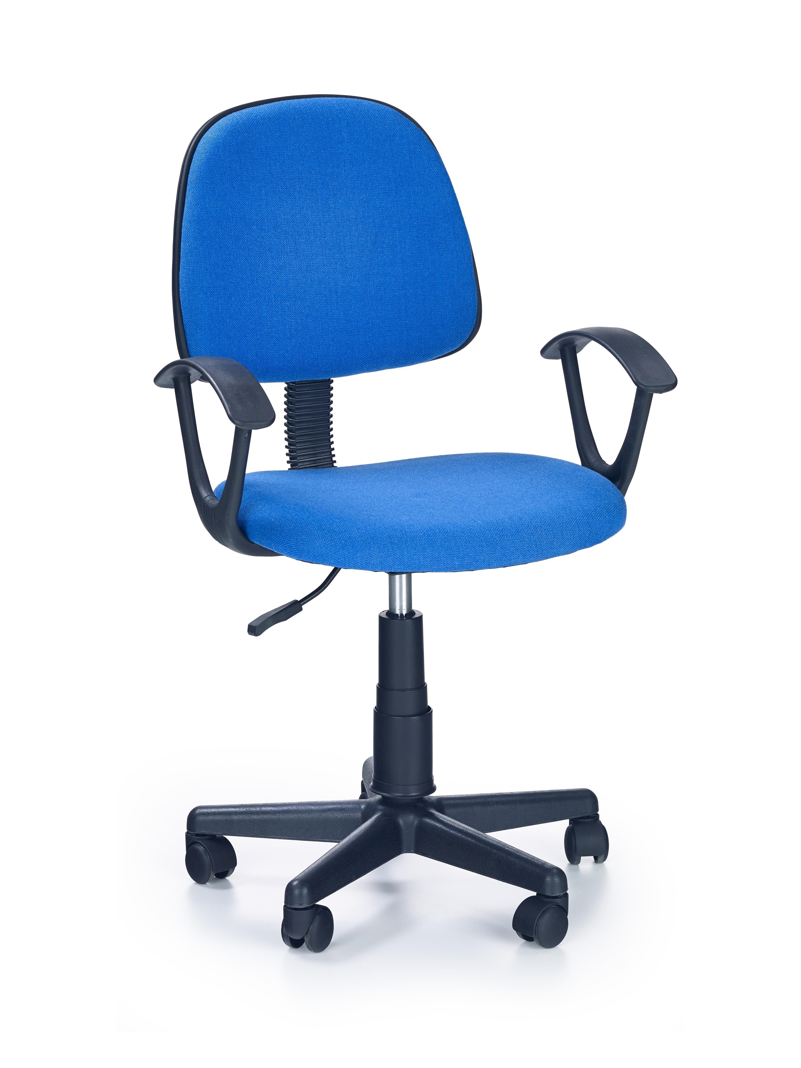 Scaun de birou pentru copii, tapitat cu stofa Darian Bis Blue, l56xA53xH84-95 cm poza