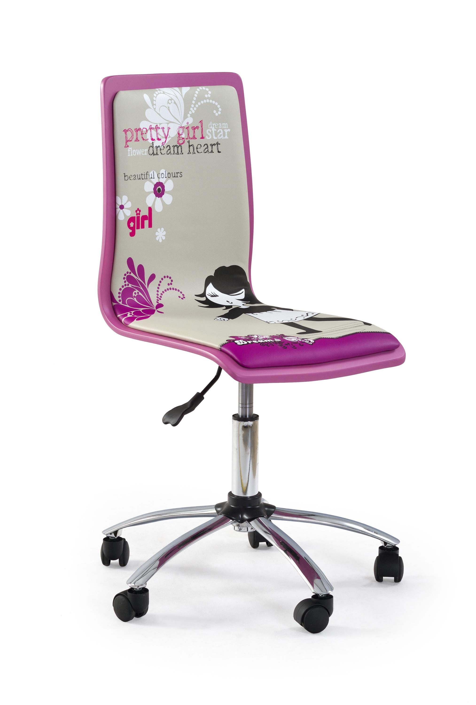 Scaun de birou pentru copii Fun 1 roz( 170342)