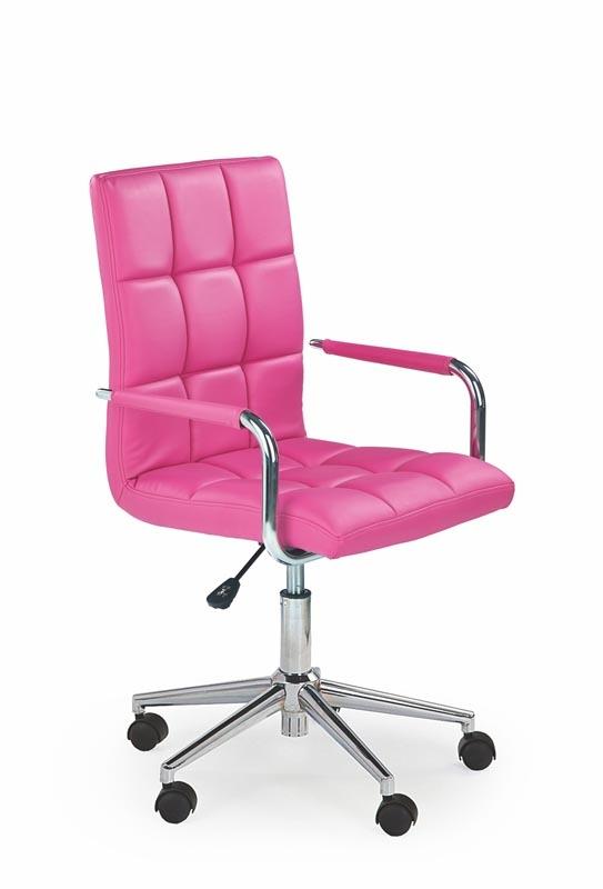 Scaun de birou pentru copii, tapitat cu piele ecologica Gonzo 2 Pink, l53xA60xH98-110 cm imagine