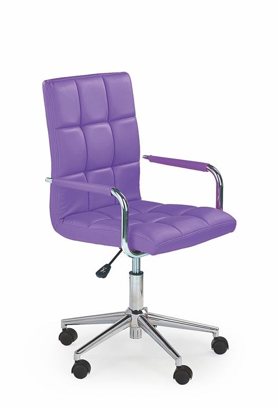 Scaun de birou pentru copii, tapitat cu piele ecologica Gonzo 2 Purple, l53xA60xH98-110 cm