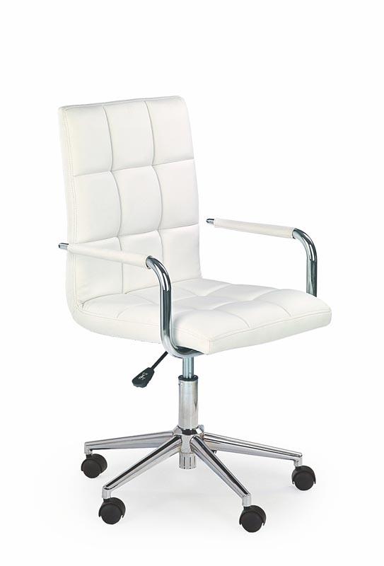 Scaun de birou pentru copii, tapitat cu piele ecologica Gonzo 2 White, l53xA60xH98-110 cm imagine