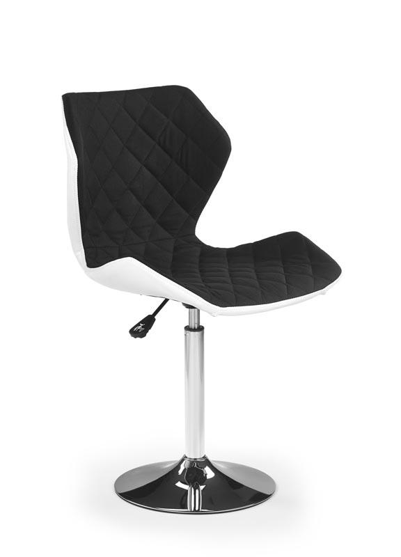 Scaun de birou pentru copii, tapitat cu piele ecologica si stofa Matrix II Black / White, l48xA53xH92-104 cm poza