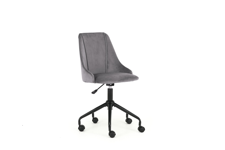 Scaun de birou pentru copii, tapitat cu stofa Break Gri inchis, l49xA55xH85-93 cm imagine
