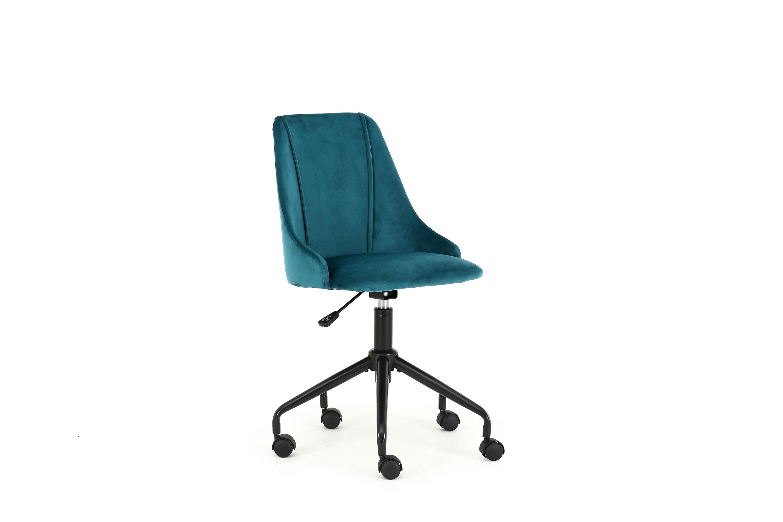 Scaun de birou pentru copii, tapitat cu stofa Break Verde inchis, l49xA55xH85-93 cm