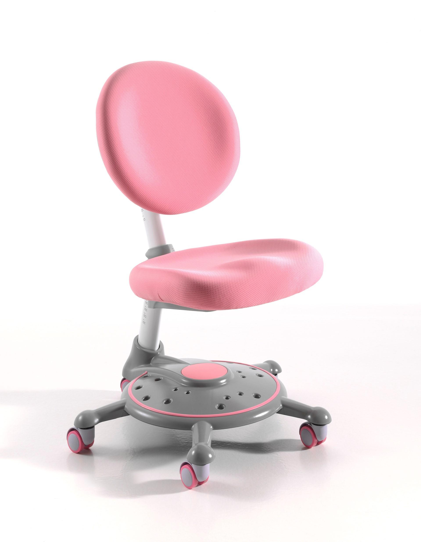 Scaun de birou pentru copii, tapitat cu stofa Comfortline Roz, l51xA54,5xH68-93 cm imagine
