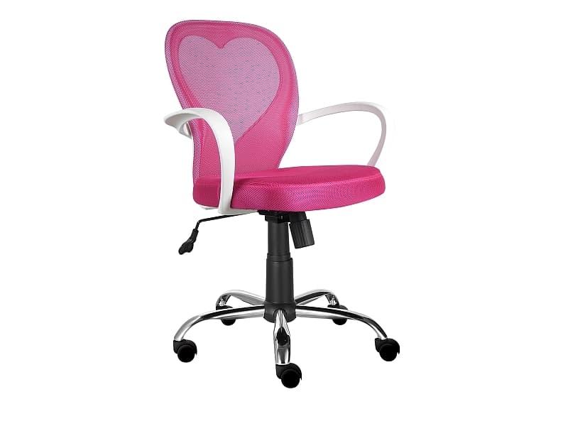Scaun de birou pentru copii, tapitat cu stofa Daisy Roz, l60xA47xH88-98 cm