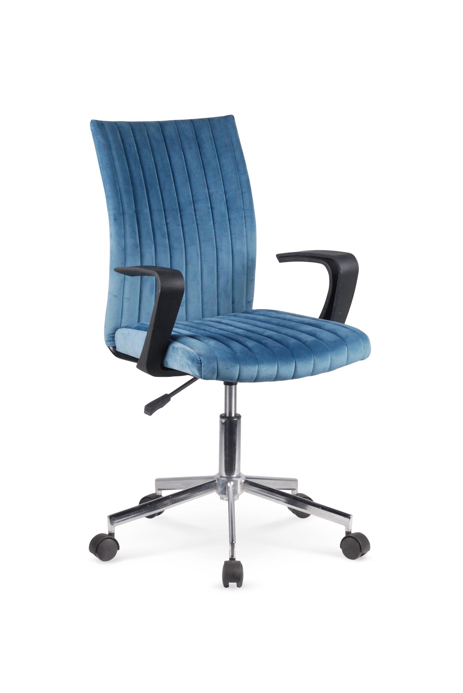 Scaun de birou pentru copii, tapitat cu stofa Doral Albastru, l55xA58xH88-98 cm