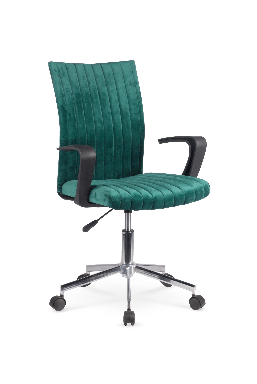 Scaun de birou pentru copii, tapitat cu stofa Doral Verde inchis, l55xA58xH88-98 cm