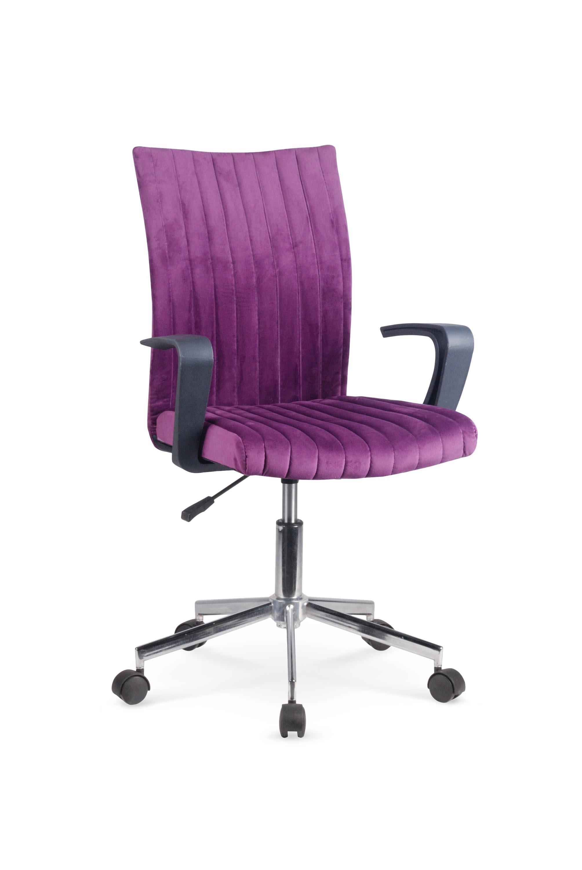 Scaun de birou pentru copii, tapitat cu stofa Doral Violet, l55xA58xH88-98 cm