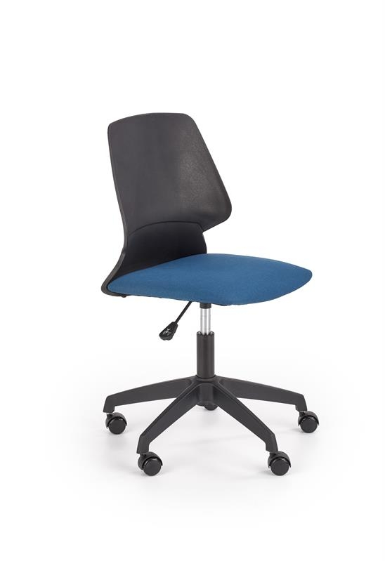 Scaun de birou pentru copii, tapitat cu stofa Gravity Negru / Albastru, l47xA56xH84-94 cm imagine
