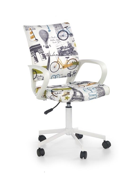 Scaun de birou pentru copii, tapitat cu stofa Ibis Paris, l53xA59xH88-100 cm imagine