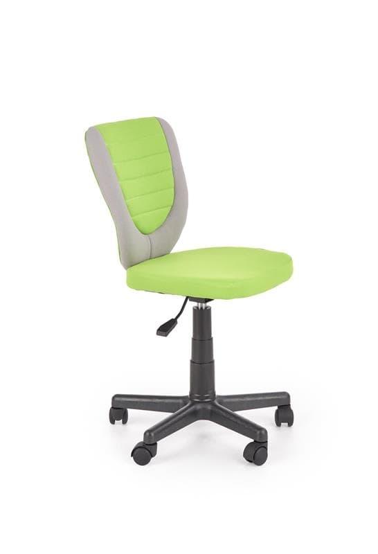 Scaun de birou pentru copii, tapitat cu stofa Lime / Gri, l44xA52xH78-90 cm poza
