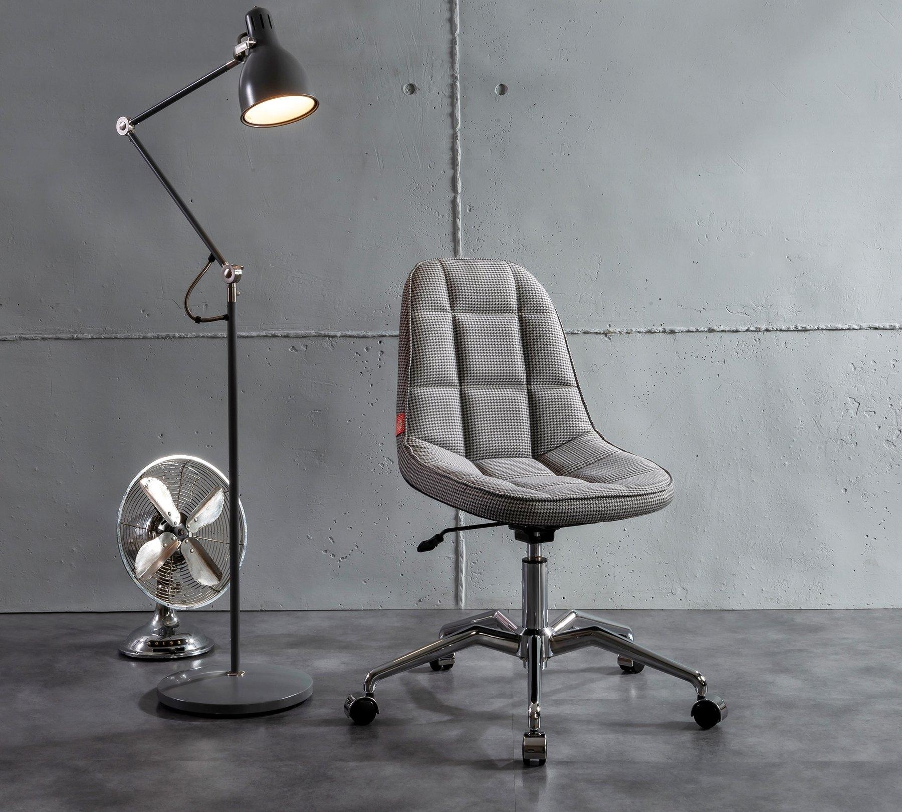 Scaun de birou pentru copii, tapitat cu stofa Modern Gri, l66xA66xH83-91 cm