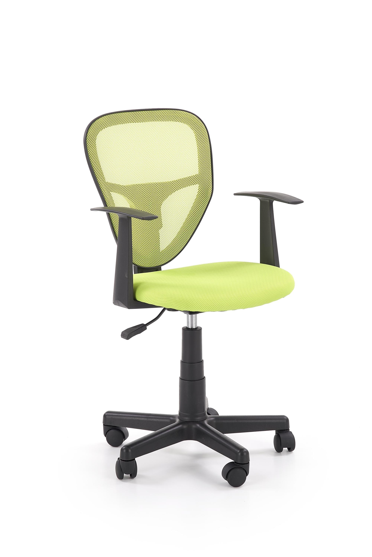 Scaun de birou pentru copii, tapitat cu stofa Spiker Verde, l52xA50xH80-91 cm