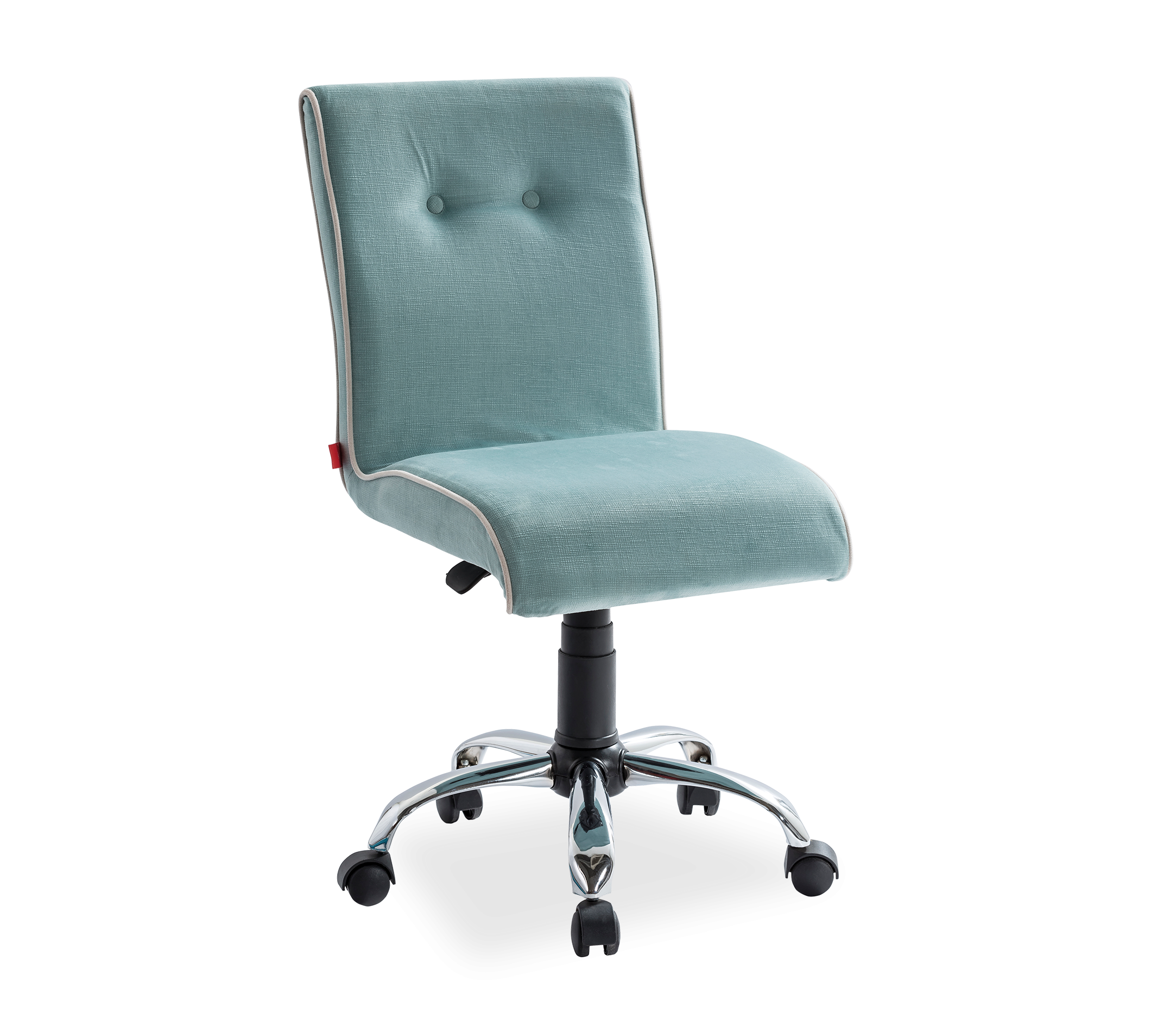 Scaun de birou pentru copii, tapitat cu stofa Summer Mint, l56xA60xH86-96 cm imagine