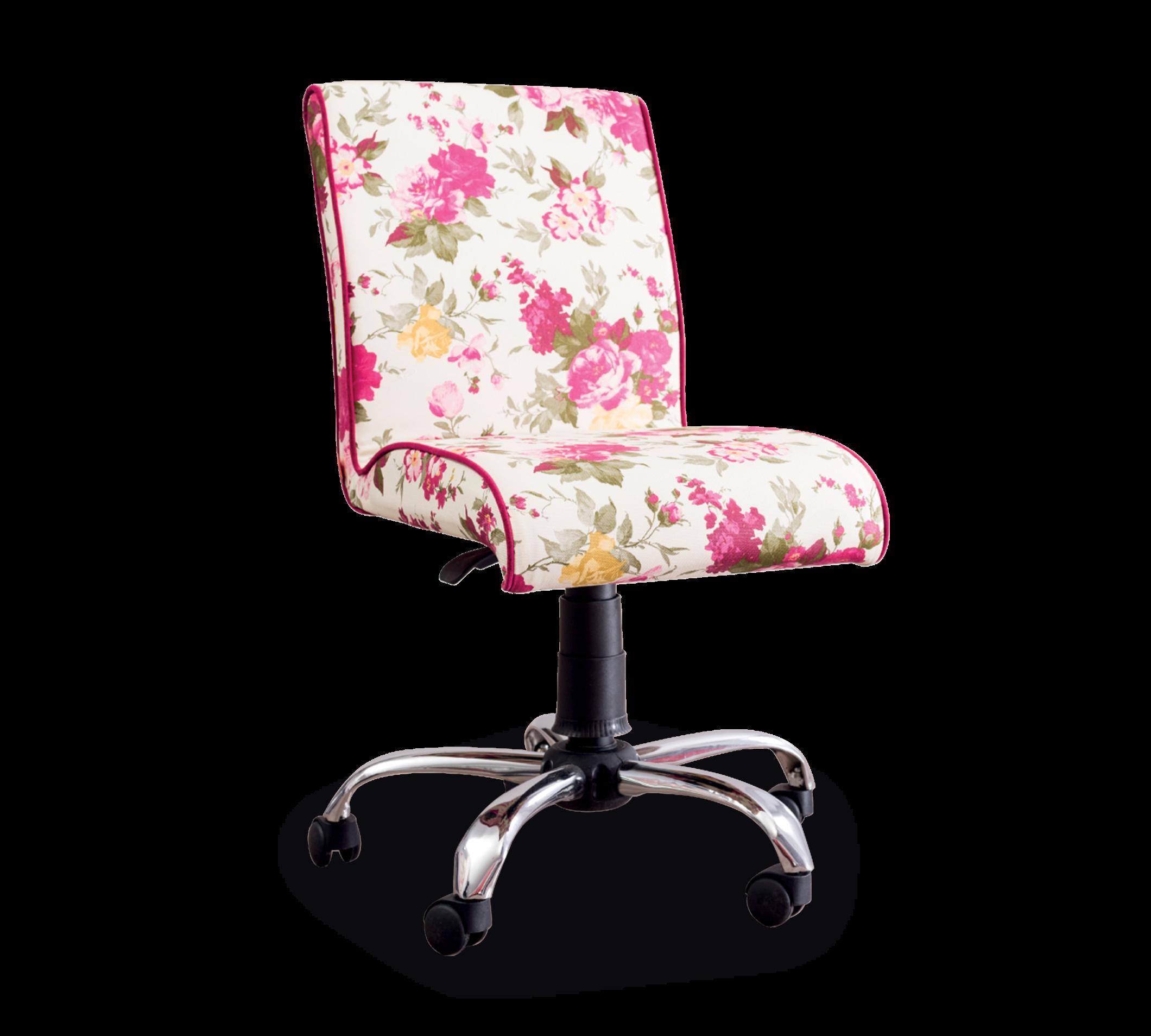 Scaun de birou pentru copii, tapitat cu stofa Summer Soft Flowers, l56xA60xH86-96 cm imagine
