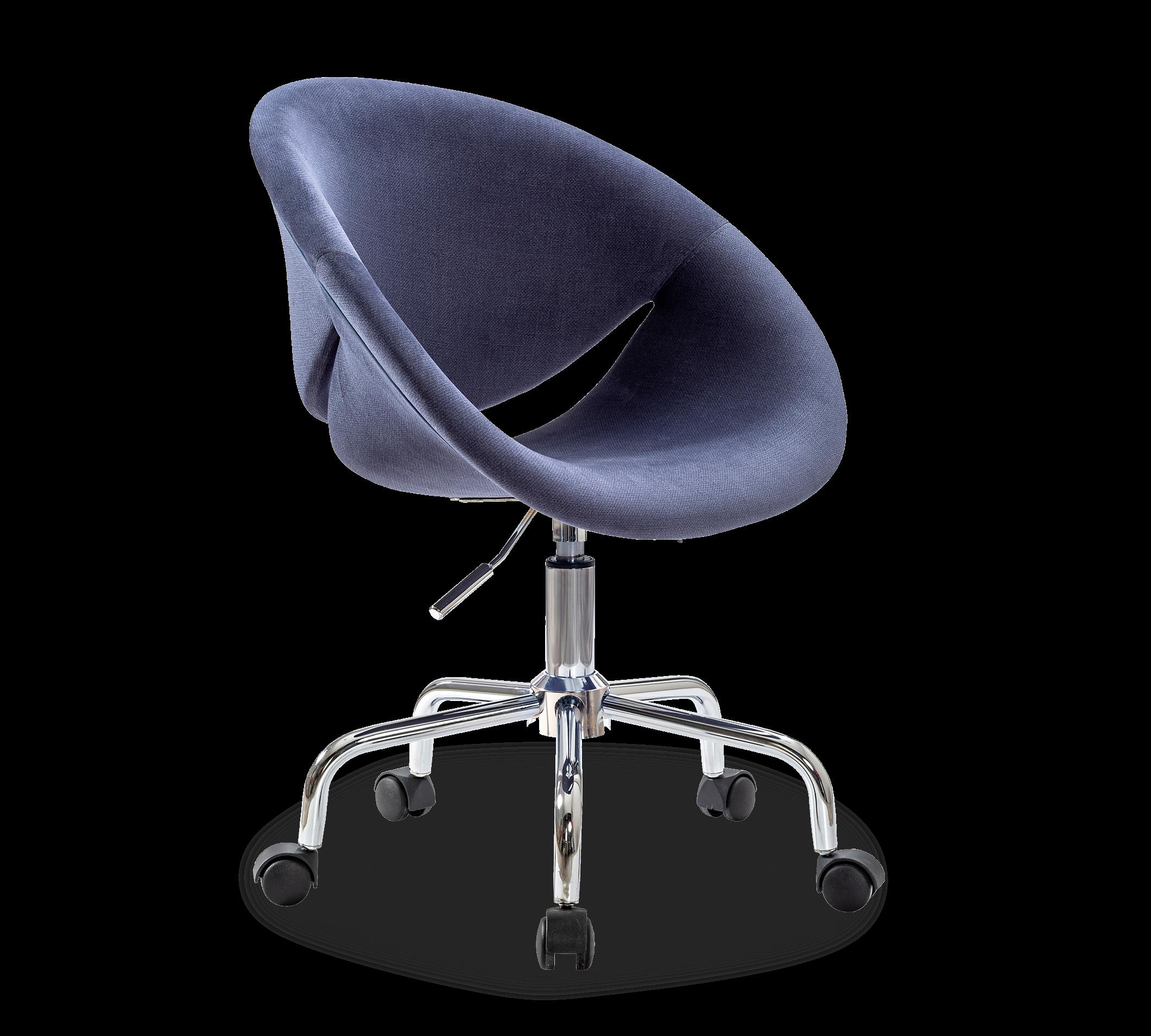 Scaun de birou pentru copii tapitat cu stofa Relax Navy Blue l61xA54xH88-95 cm
