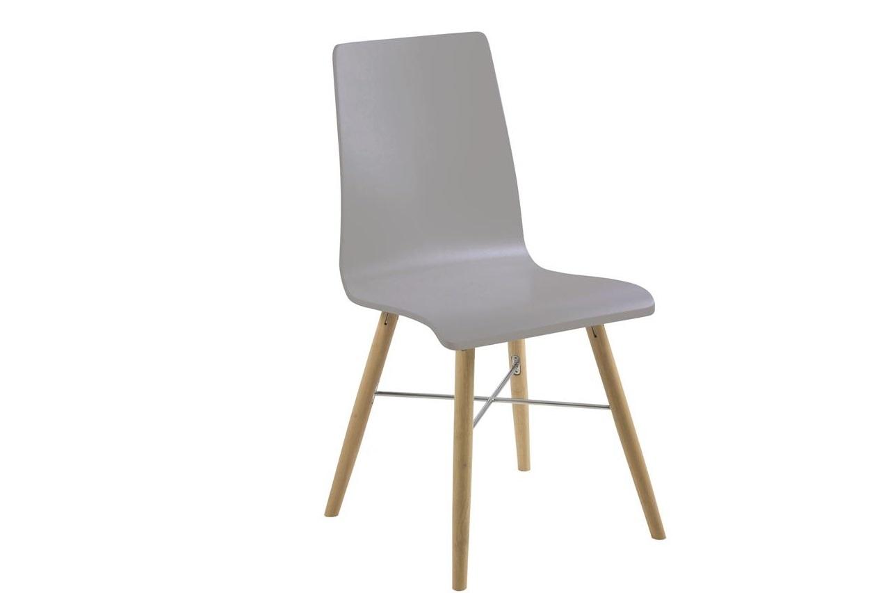 Scaun din plastic si lemn Milton Grey