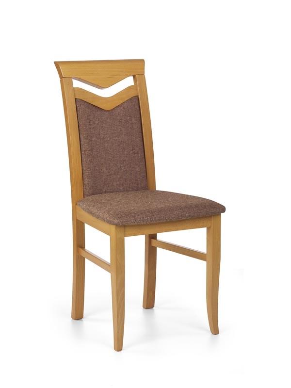 Scaun din lemn de fag, tapitat cu stofa Citrone Arin, l44xA43xH96 cm