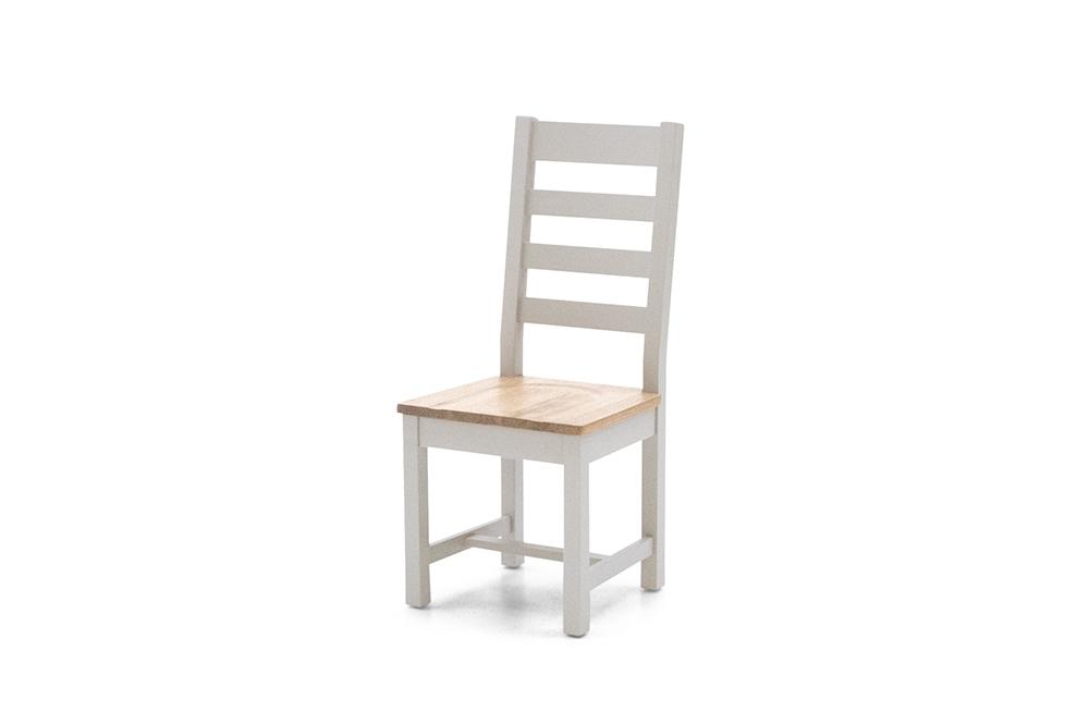 Scaun din lemn de pin si MDF Ferndale Ladder Grey / Oak l45xA50xH102 cm