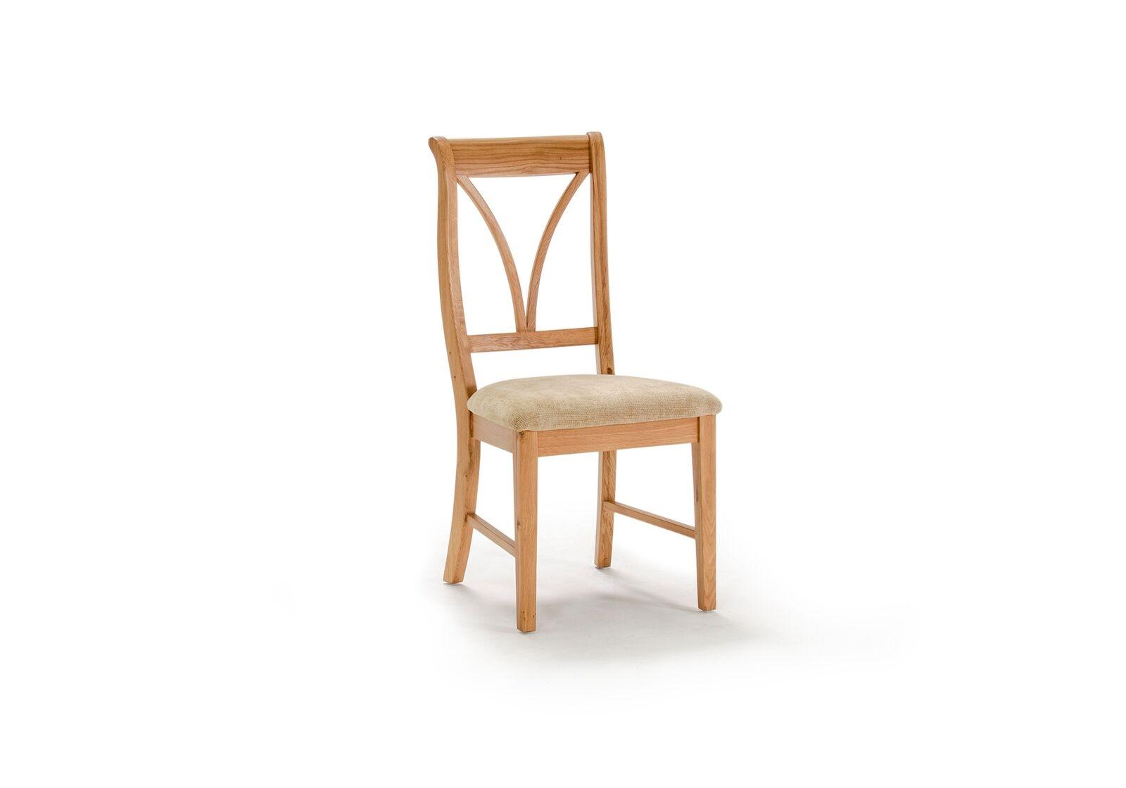 Scaun din lemn de stejar si furnir cu sezut tapitat cu stofa Carmen Oak l468xA537xH987 cm