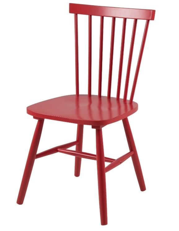 Scaun din lemn Riano Dining Red l485xA48xH86 cm